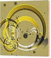 Golden Rings Wood Print