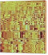 Golden Ripples Abstract Wood Print