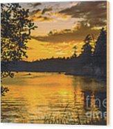 Golden San Juan Wood Print