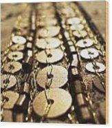 Golden Sequins Highway Wood Print