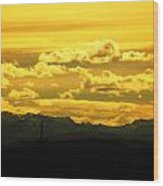 Golden Skies Wood Print
