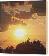 Golden Sky Over Genesee Wood Print