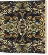 Golden Split Crop Wood Print
