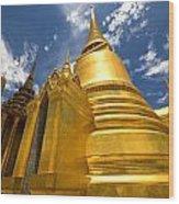 Golden Stupa In Grand Palace Bangkok Wood Print