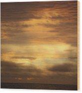 Golden Sunrise Squared Wood Print