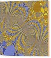 Golden Vortices Wood Print