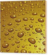 Golden Water Drops. Business Card. Invitation Etc. Wood Print