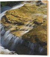 Golden Waterfall Glacier National Park Wood Print