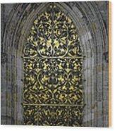 Golden Window - St Vitus Cathedral Prague Wood Print