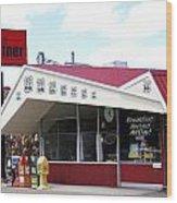 Goldie's Route 66 Diner  Wood Print