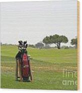 Golf Bag Wood Print