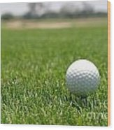 Golf Ball Wood Print