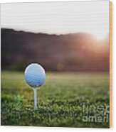 Golf Ball Wood Print