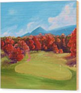 Golf Course In The Fall 2 Wood Print