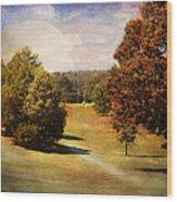 Golf Course Iv Wood Print