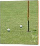 Golf Pin Wood Print