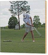 Golf Swing Wood Print