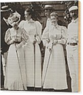 Golfing Party, C1895 Wood Print