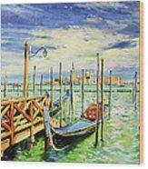 Gondolla Venice Wood Print