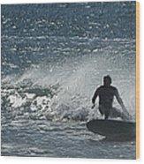 Gone Surfing Wood Print