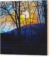 Good Evening Wood Print