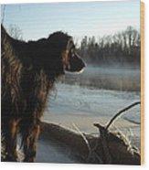Good Morning Mississippi River Wood Print