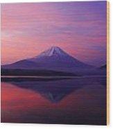 Good Morning Mt Fuji Wood Print
