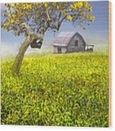 Good Morning Spring Wood Print by Debra and Dave Vanderlaan