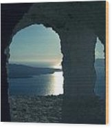 Good View Santorini Island Wood Print