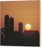 Goodoboy's Sunset Wood Print