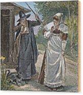 Goodwife Walford, 1692 Wood Print