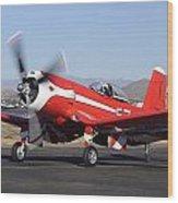 Goodyear F2g-1 Corsair N5588n Race 57 Falcon Field Arizona December 27 2011 Wood Print