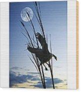 Goose At Dusk Wood Print