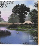 Goose Pond Wood Print by Robert Foster