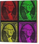 Gorge Washington In Colors Wood Print