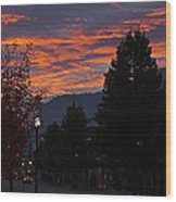 Gorgeous Sunrise On G Street Wood Print