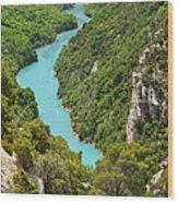 Gorges Du Verdon Wood Print