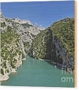 Gorges Du Verdon River From Sainte-croix Lake Wood Print