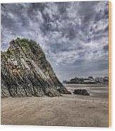Goscar Rock Tenby 2 Wood Print