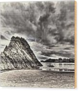Goscar Rock Tenby Cream Wood Print
