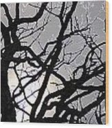 Goth Tree Wood Print