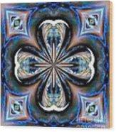 Gothic Blues Wood Print