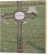 Gothic Grave Marker Wood Print