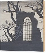 Gothic Landscape Wood Print by Silvie Kendall