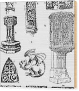 Gothic Ornament Wood Print