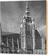 Gothic Saint Vitus Cathedral In Prague Wood Print