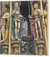 Gothic Statues Of The Schroner Bruner Wood Print by Andrew  Michael