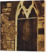 Gothic Window Wood Print