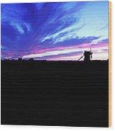 Gotland Windmill Midsummer Wood Print