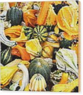 Gourds And Squash Wood Print